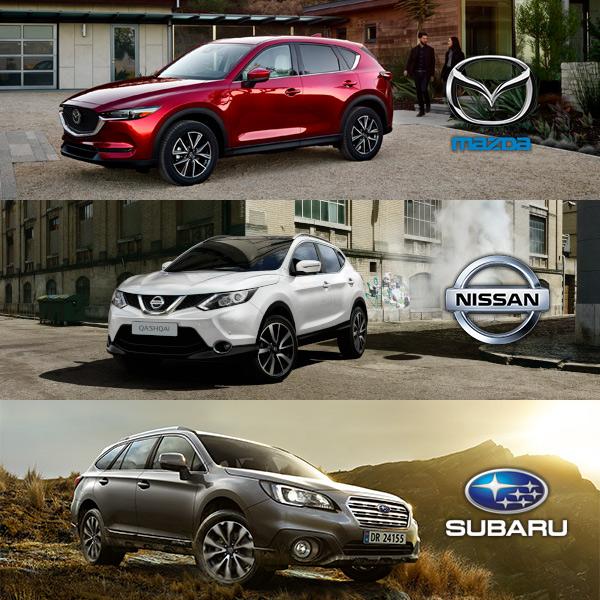 Mazda, Nissan, Subaru